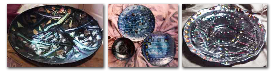 custom fused glass bowls and platters