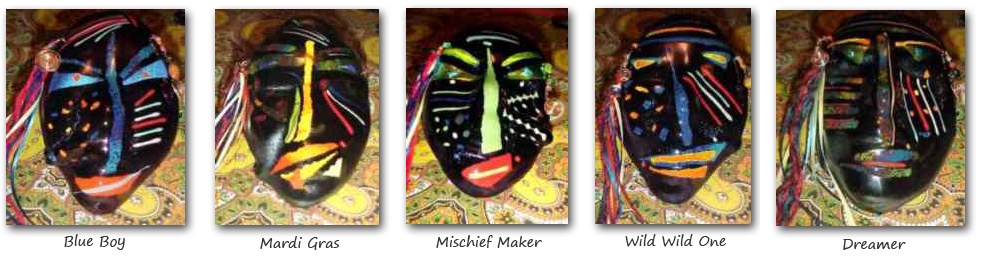 custom fused glass masks