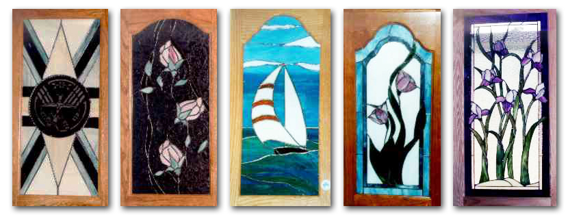customized stained glass cabinet doors