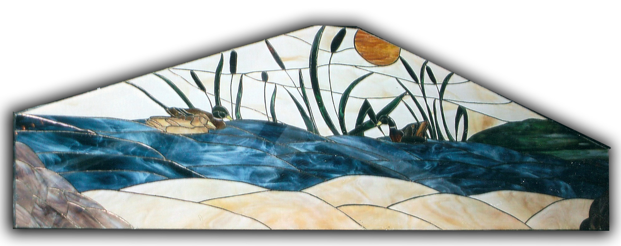 special shaped stained glass window
